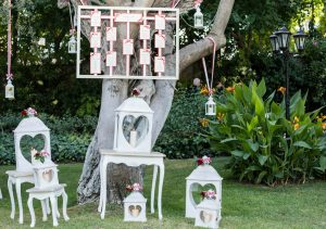 Tableau mariage e lanterne