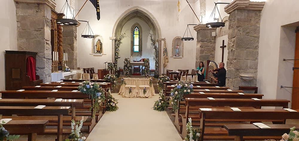 Allestimento Fiori Matrimonio Sardegna