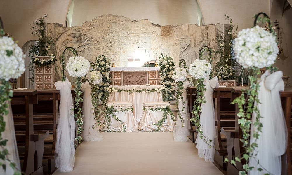 Fiori per chiesa matrimonio Sardegna